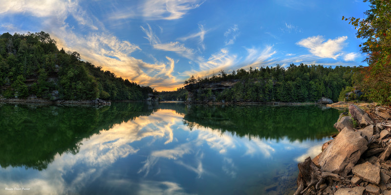 """Right Side Of Play Spot Panorama At Laurel River Lake, 30"""" X 60"""""""