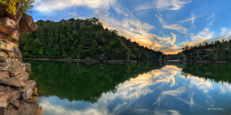 "Left Side Of Play Spot Panorama At Laurel River Lake, 30"" X 60"""