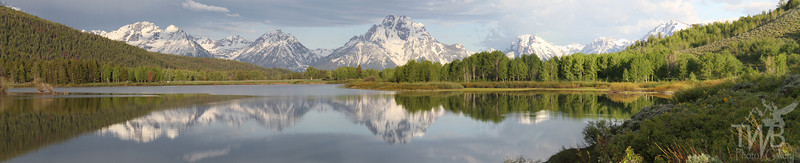 """ reflections"" ,a June morning Grand Tetons N.P."