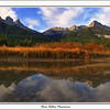 Three Sisters Panoramic image, taken south of Canmore