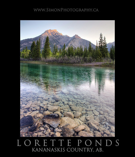 Lorette Ponds in Kananaskis Ab, sunrise during a nice cloudless morning