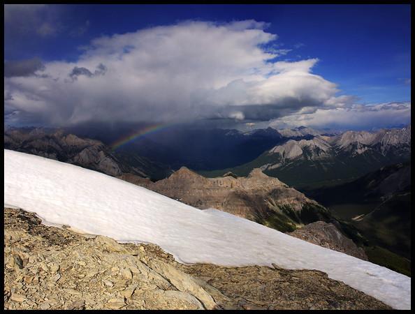 Rainbow over Banff