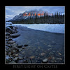 Alpine glow on Castle Mountain, Banff Ab.<br /> <br /> Dec 1st, 2010
