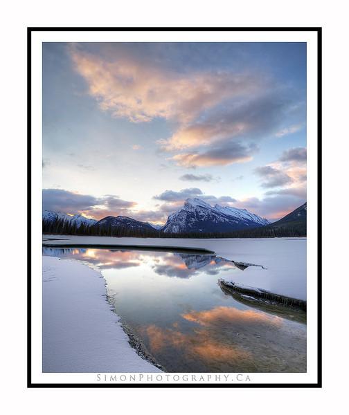 Apr 2nd Sunrise at Vermillion Lakes.