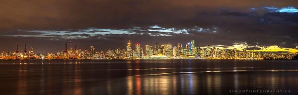 Vancouver skyline pano