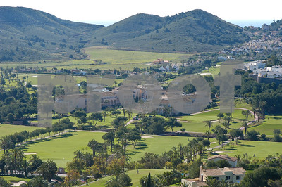 La Manga Club Hotel looking east towards the Mediterranean