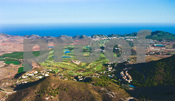 Aerial view from La Manga Club's North Course, over the South Course towards the Mediterranean, August 28th 1997
