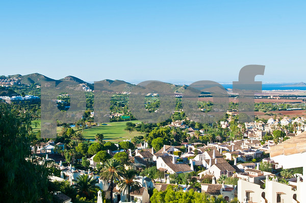 View of La Manga Club's South Course from Las Higueras