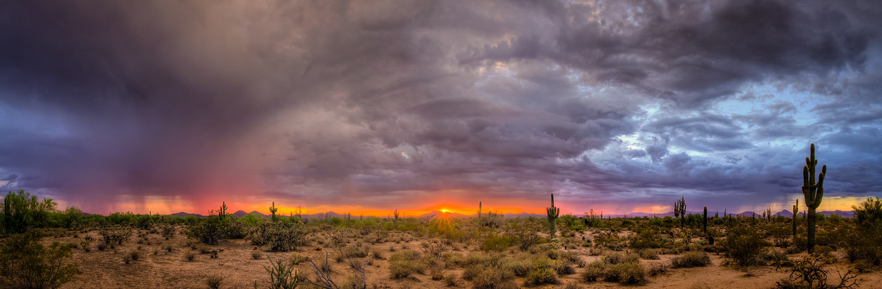 271 - Colorful Desert Storm at Sunset