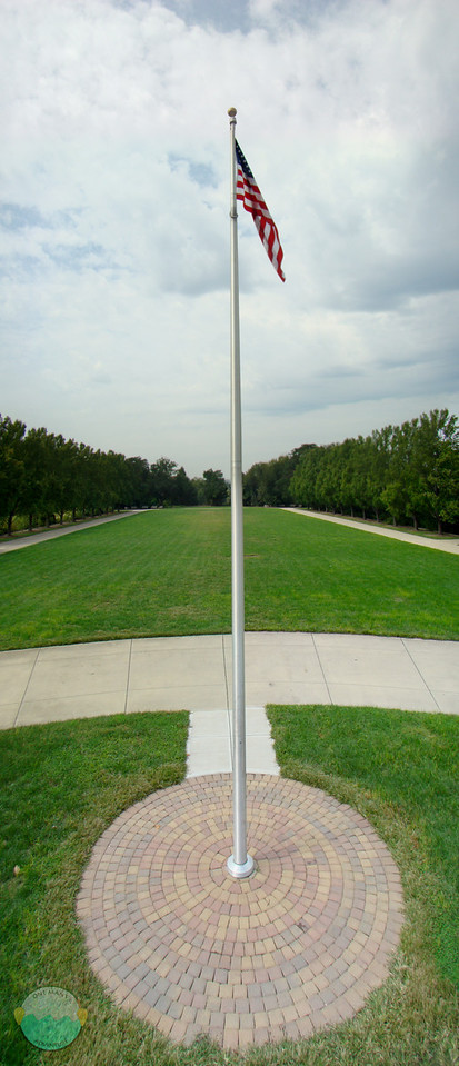 Flag on Watch<br /> The Ault Park flag standing tall days before September 11th.