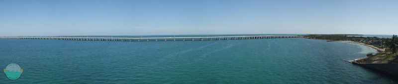 Endless Bridge<br /> One of the many endless bridges in the Florida Keys, taken from no less another bridge!