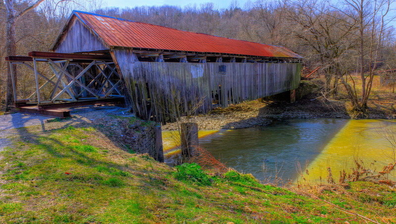 Broken Down<br /> An old covered bridge in Kentucky, one of not many left, and sadly falling apart.  Located in Mason County, Kentucky.