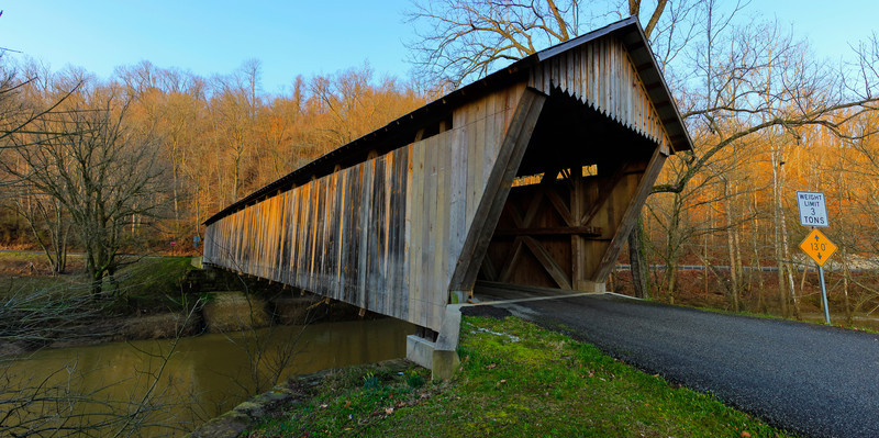 Bennett's Mill<br /> Covereed bridge that goes over Tygart's Creek.  Built in 1855 and never painted, the wood has aged to be this rustic color.  The only covered bridge of its design left.  Wheeler's design.  The other 6 that were in Ohio have been gone for decades.