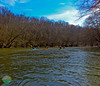 March Paddle<br /> Panormic of kayakers on the Little Miami River.
