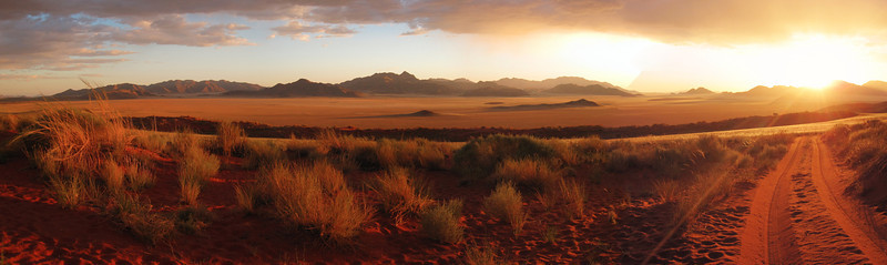 Into the Namibian Sunset
