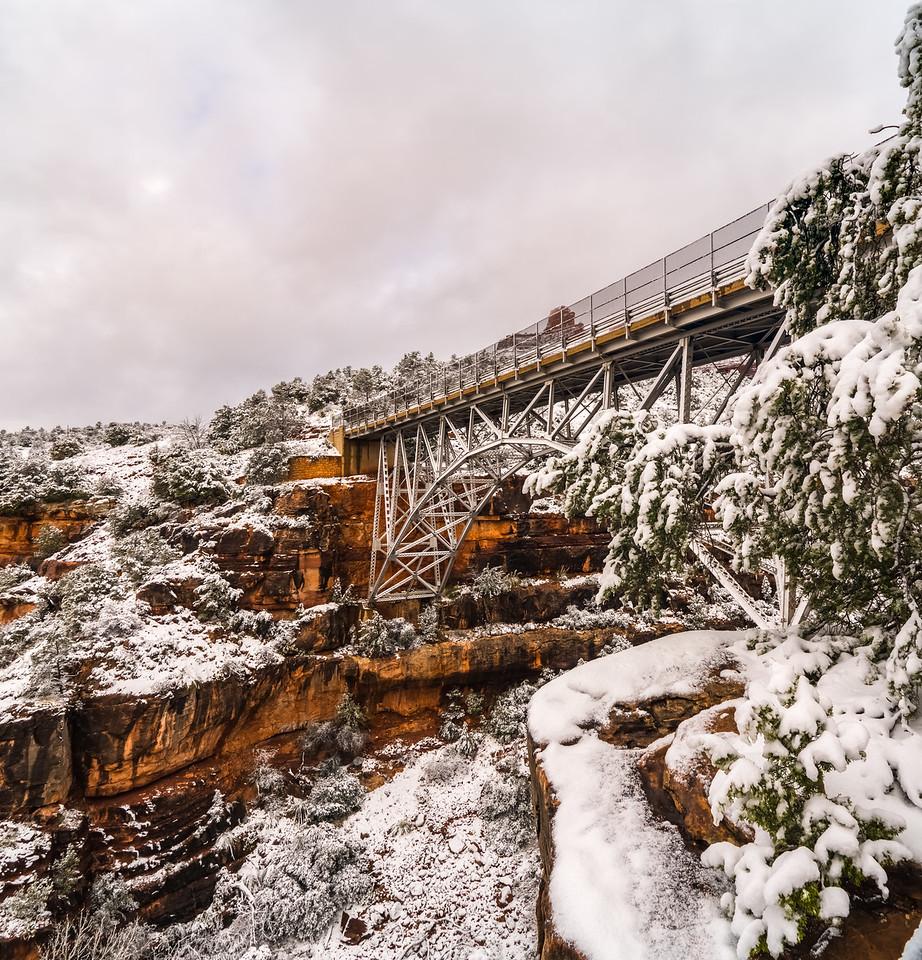 Midgley Bridge in Snow