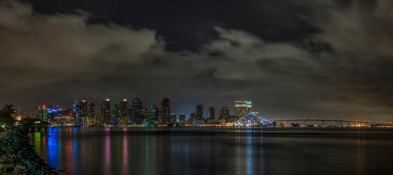 Skyline San Diego 5 Panel Pano