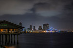 Morning San Diego Skyline 3 Panel Pano