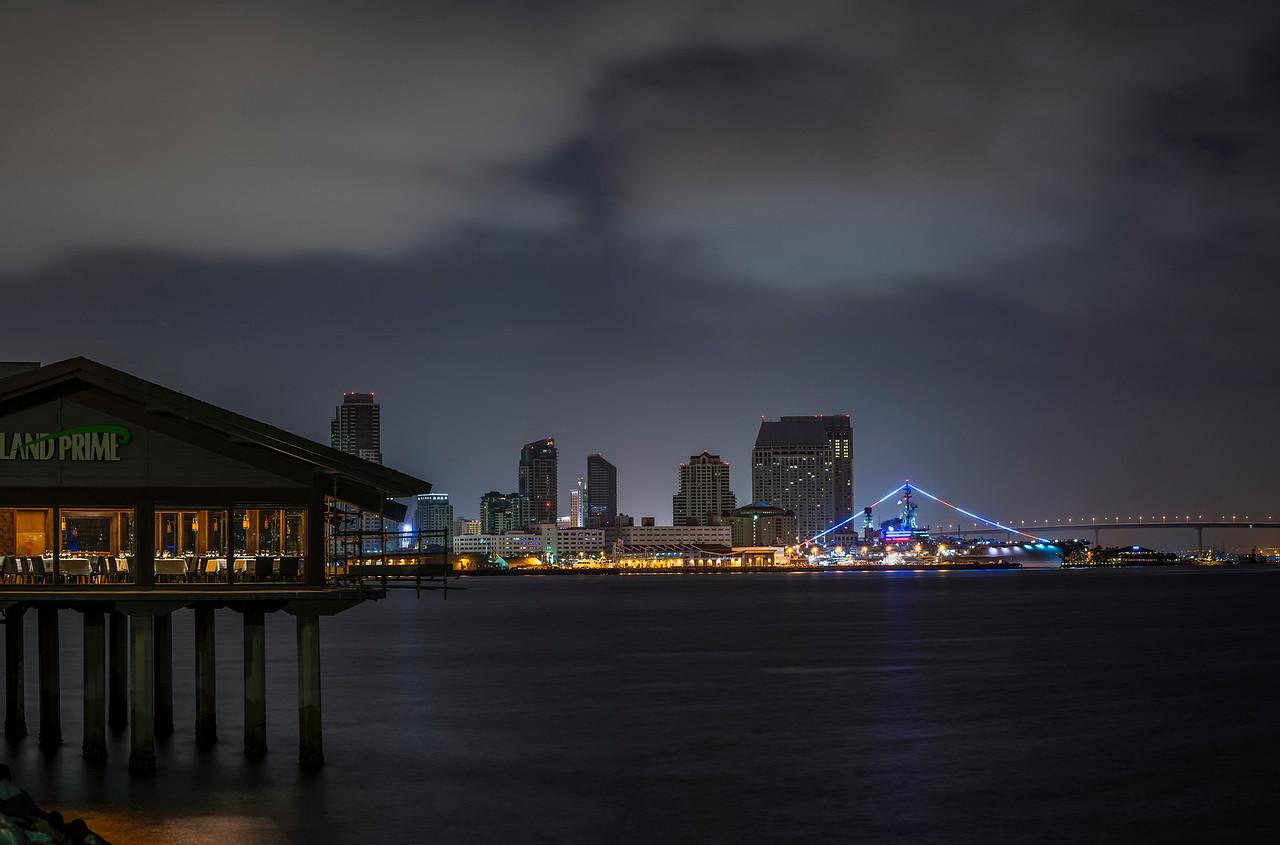 Morning San Diego Skyline 3 Panel Pano