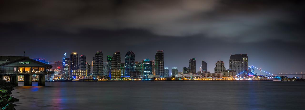 Morning San Diego Skyline 5 Panel Pano
