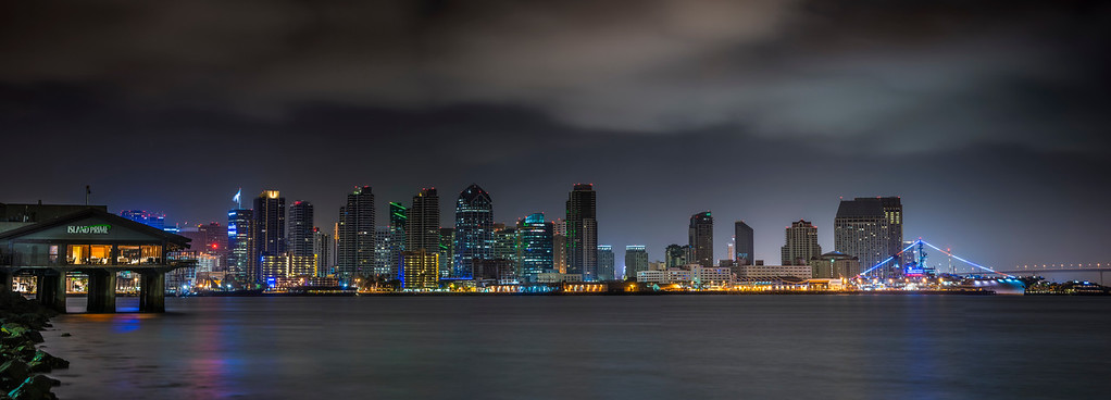 Morning San Diego Skyline 5 Panel Pano