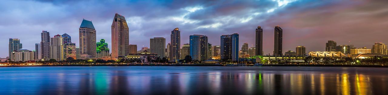 San Diego Skyline 8 Panel Pano