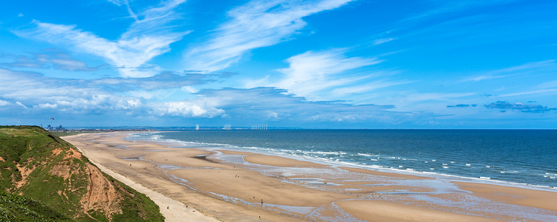 Beach at Saltburn by the Sea in Cleveland, North Yorkshire