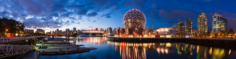 Science World at Blue Hour