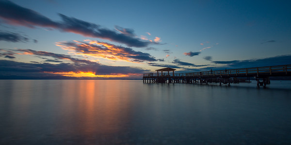 Davis Bay Pier Sunset