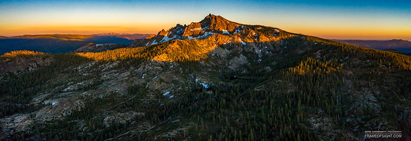 Sunset at Sierra Buttes, CA