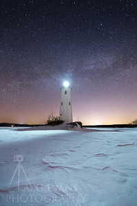 Loon Island Light and the Stars