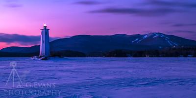Loon Island Light sunrise