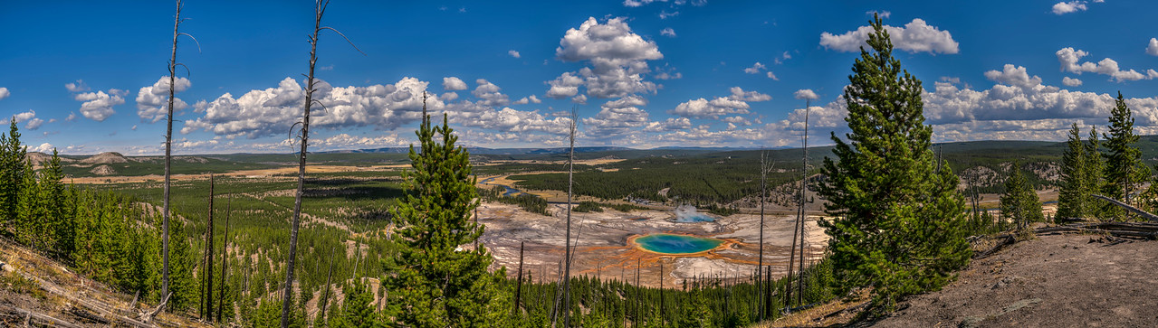 Grand Prismatic Spring 11 Panel Pano