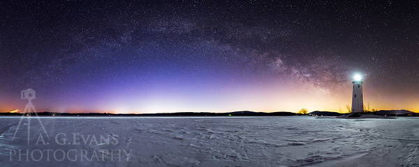 The Milky Way and Loon Island Light
