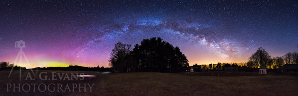 Milky Way and Aurora at Muster Field Farm