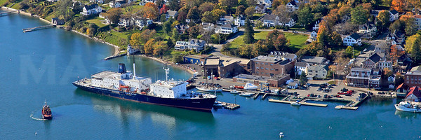 "The Training Ship ""State of Maine"".  The 500' long ""State of Maine"" was built in 1990 in Maryland.  Castine, Maine."