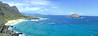 Waimanalo Beach Park from Makapuu Point.