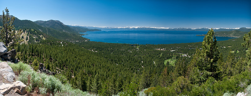 Lake Tahoe Panoramic from East Shore