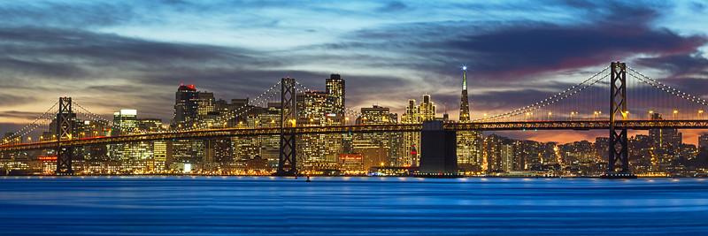 SF Holiday Skyline Oakland Port Oakland, CA