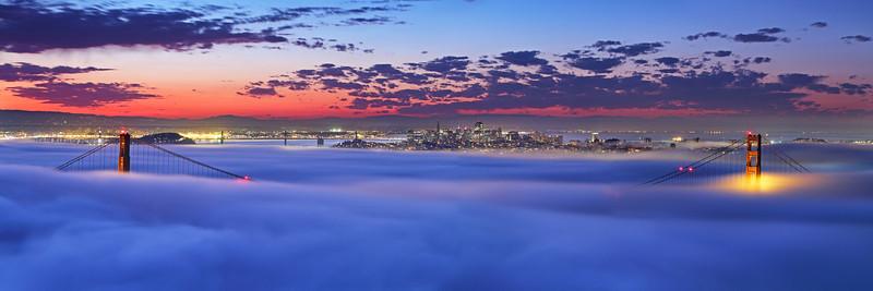 Hawk Hill Sunrise Golden Gate National Recreation Area Marin Headlands, CA