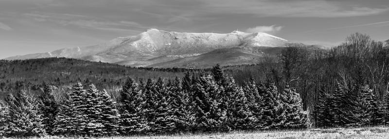 2012 B&W Winter Panoramic of Mansfield