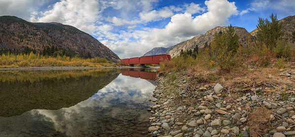 Keremeos Red Bridge Pano II -2017