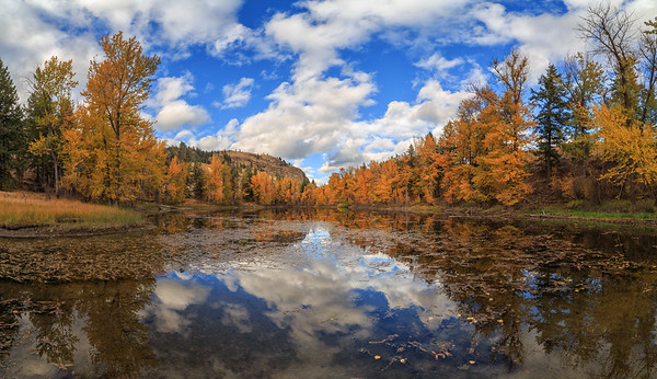 Twin Lakes Autumnal Panoramic IV
