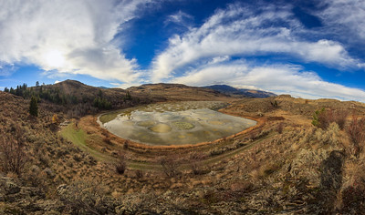 Spotted Lake Fisheye Panoramic