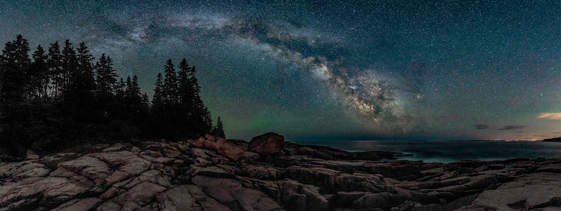 The Milky Way over  Otter Cliffs - Acadia