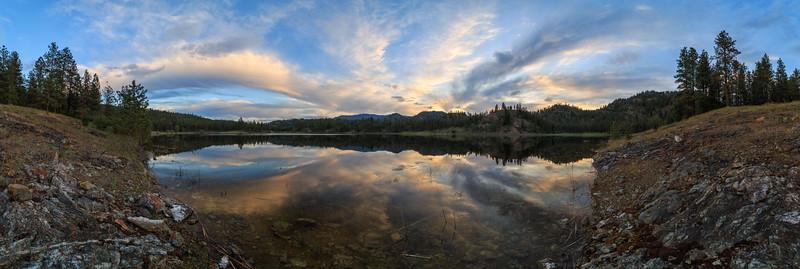 Mahoney Lake Sunset Panoramic 2018