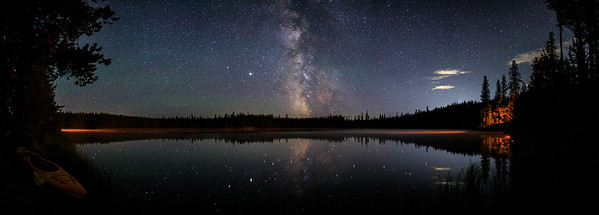 Idleback Lake Misty Milky Way -Panoramic 2020