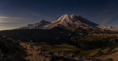 Moonlit Mount Rainier