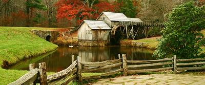 Fall Colors at Mabry Mill