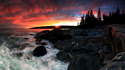 Sunset Along the Maine Coast